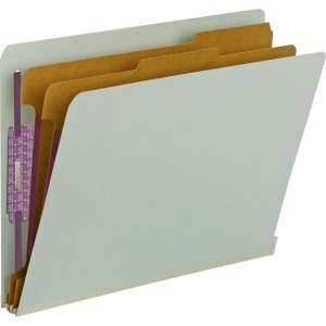 Smead End Tab Classification Folders with SafeSHIELD® Coated Fastener Technology