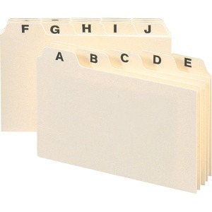 Smead Card Guides with Alphabetic Tab