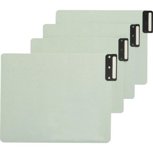Smead 100% Recycled Extra Wide End Tab Pressboard Guides, Vertical Metal Tab Style