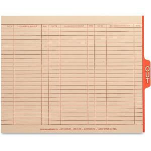 Smead 63910 Manila End Tab Out Guides with Printed Form