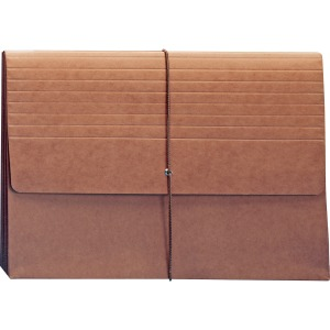 Smead Extra-Wide Expanding Wallet with Flap and Cord Closure