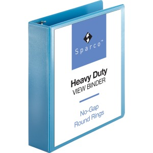 Sparco Premium Round Ring View Binders