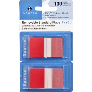 Sparco Removable Standard Flags in Dispenser
