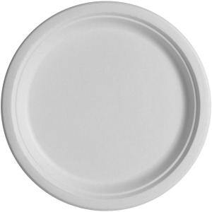 "NatureHouse Savannah Supplies Bagasse 10"" Round Paper Plates"