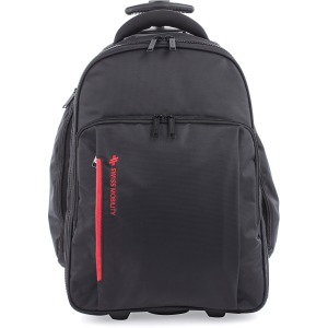 "Swiss Mobility Carrying Case (Rolling Backpack) for 15.6"" Notebook - Black"