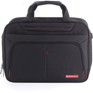 "Swiss Mobility Carrying Case (Briefcase) for 15.6"" Notebook - Black"