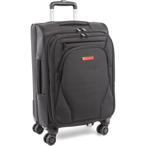 "Swiss Mobility Travel/Luggage Case (Carry On) for 15.6"" Notebook, Travel Essential - Black"