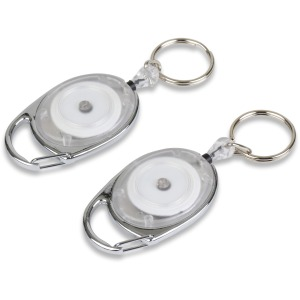 Tatco Reel Key Chain with Chrome Carabiner