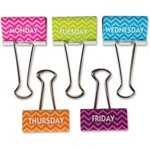 Teacher Created Resources Chevron Large Binder Clips