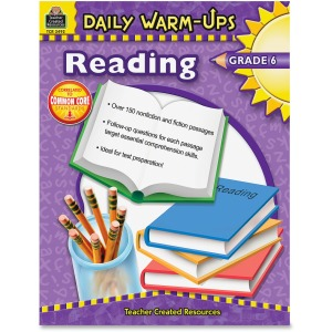 Teacher Created Resources Warm-up Grade 6 Reading Rook Printed Book