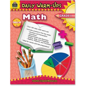 Teacher Created Resources Gr 1 Math Daily Warm-Ups Book Printed Book