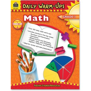 Teacher Created Resources Gr 3 Math Daily Warm-Ups Book Printed Book