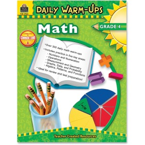Teacher Created Resources Gr 4 Math Daily Warm-Ups Book Printed Book