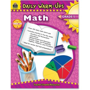 Teacher Created Resources Gr 5 Math Daily Warm-Ups Book Printed Book