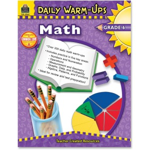 Teacher Created Resources Gr 6 Math Daily Warm-Ups Book Printed Book