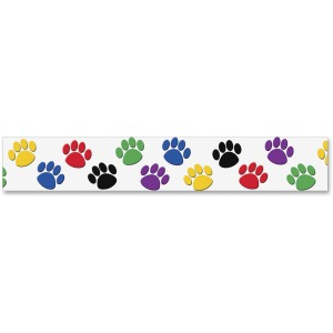Teacher Created Resources Pawprint Colorful Board Trim