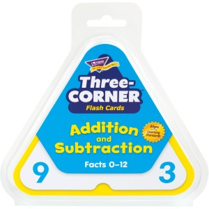 Trend Addtn/Subtractn Three-Corner Flash Card Set