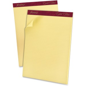 Ampad Medium Weight Quadrille Pads - Letter