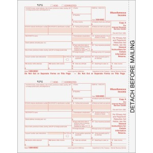 TOPS 4-Part Continuous 1099 Misc. Forms