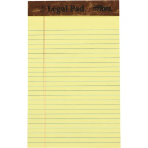 TOPS Leatherette Double - stitched Writing Pads - Jr.Legal