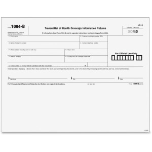 TOPS 1094B Transmittal Tax Form