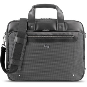 "Solo Gramercy Travel/Luggage Case (Briefcase) for 15.6"" Notebook - Gray"