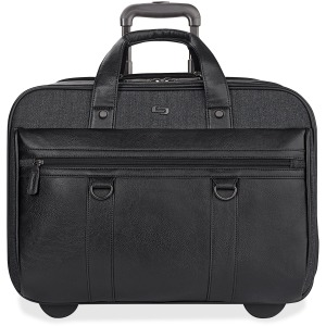 "Solo Executive Carrying Case (Roller) for 17.3"" Notebook - Black, Gray"