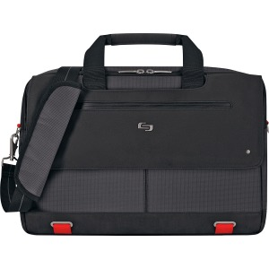 "Solo Aegis Carrying Case (Briefcase) for 15.6"" Notebook - Black, Red"