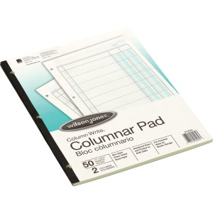 Wilson Jones Column Write 2-column Columnar Pad