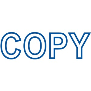 Xstamper COPY Title Stamp