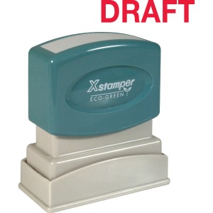 Xstamper DRAFT Stamp