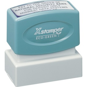 Xstamper Custom Endorsement Pre-inked Stamp