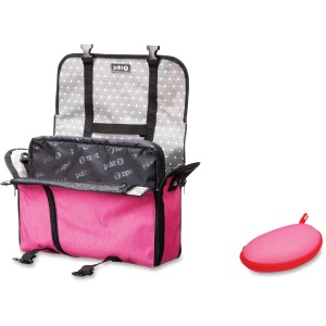 "ZIPIT Carrying Case (Messenger) for 14"" Notebook - Pink, Gray"