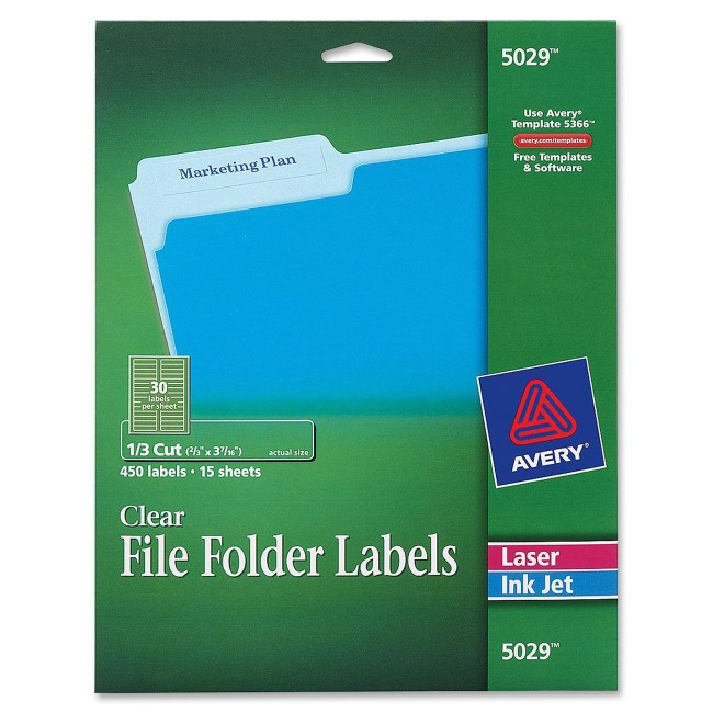 Avery® Permanent Clear File Folder Labels