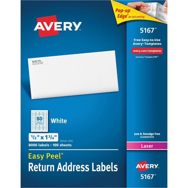Avery® Easy Peel® Return Address Labels with Sure Feed™ Technology
