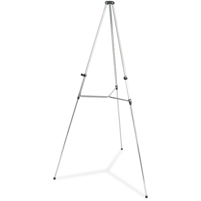 "Quartet® Aluminum Lightweight Telescoping Display Easel, 66"", Supports 25 lbs., Silver"