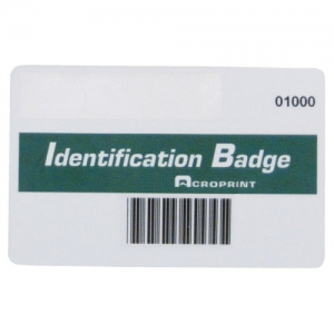 ACRO BR 14-0128-001 - BX/15 BARCODE BADGES
