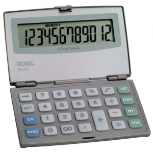 ROYAL XE24 12 DIGIT LRG - FOLDING COMPACT CALC