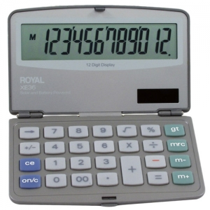 ROYAL XE36 12 DIGIT XLRG - FOLDING COMPACT CALC