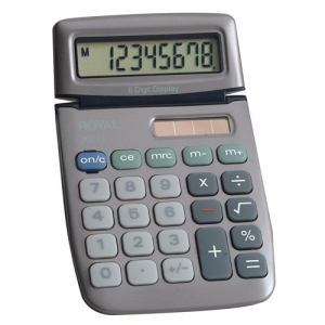 ROYAL XE6 8 DIGIT DUAL - POWER HANDHELD CALC