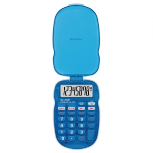 SHARP ELS10BBL 8 DIGIT - HANDHELD CALC W/COVER