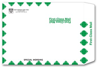White First Class Envelope