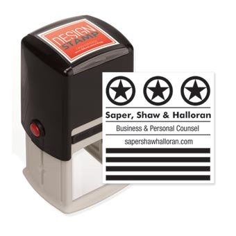 Stars & Stripes Design Stamp - Self-Inking
