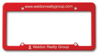 License Plate Frame - Straight Top