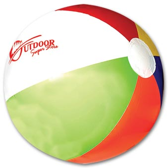 16  Multi Color Beach Ball