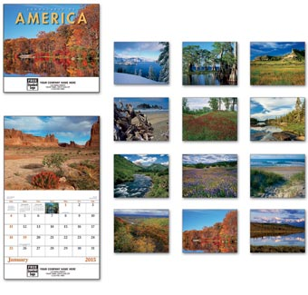 Landscapes Of America Wall Calendar