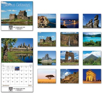 Glorious Getaways Wall Calendar