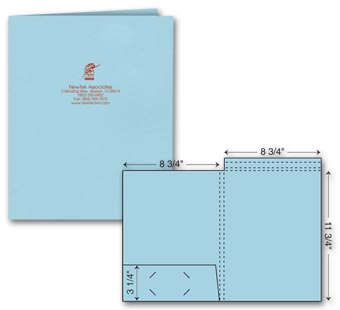 Top Tab Presentation Folder - Ink Imprint