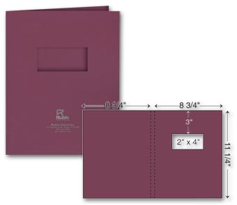 One Part Extra Capacity Report Cover - Foil Imprint w/window