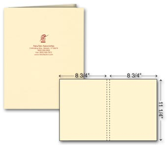 One Part Extra Capacity Report Cover - Foil Imprint